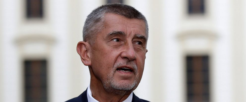 Czech Republics Prime Minister Andrej Babis addresses the media after meeting with Czech Republics President Milos Zeman at the Prague Castle, Czech Republic, Thursday, July 11, 2019. Czech leaders have failed to solve a dispute over a change in th