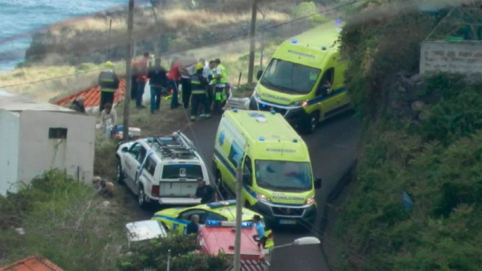 The Latest: Bus pulled out from deadly crash site on Madeira