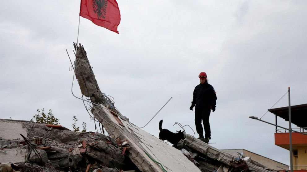 Search In Albania Quake Reduced