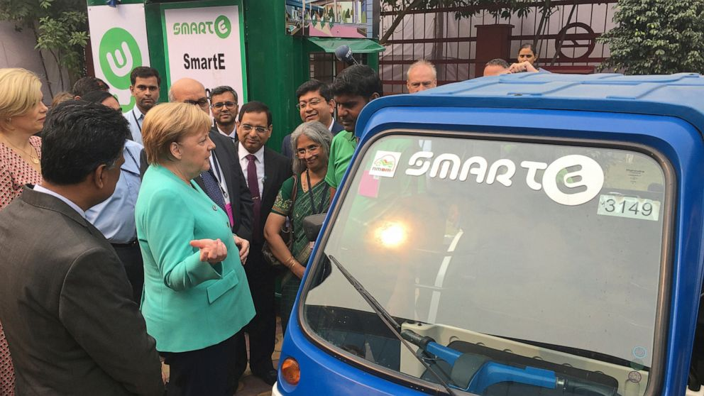 1 million car charging points in Germany by 2030: Merkel