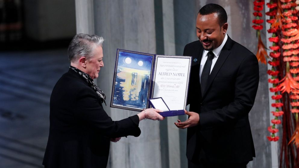 Nobel winner Abiy says 'hell' of war fueled desire for peac thumbnail