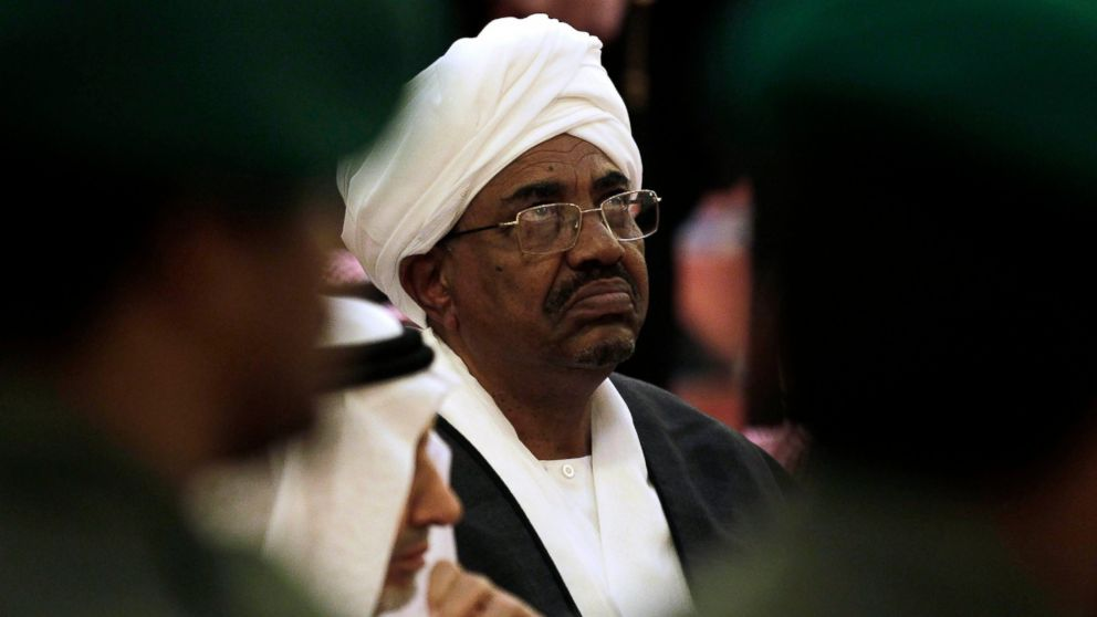 FILE - In this Oct. 25, 2011 file photo, Sudanese President Omar al-Bashir attends the funeral of Saudi Crown Prince Sultan bin Abdul-Aziz Al Saud, in Riyadh, Saudi Arabia. In Jan. 2019, with violent anti-government protests into their fourth week, Sudan appears headed toward political paralysis, with drawn out unrest across much of the country and a fractured opposition without a clear idea of what to do if their wish to see the country's leader of 29 years go comes true. (AP Photo/Hassan Ammar, File)
