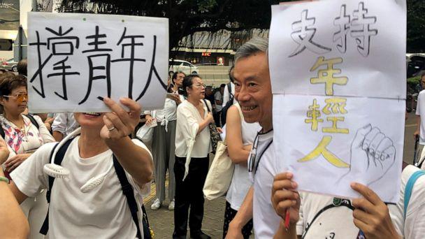 Hong Kong elders march in support of young demonstrators