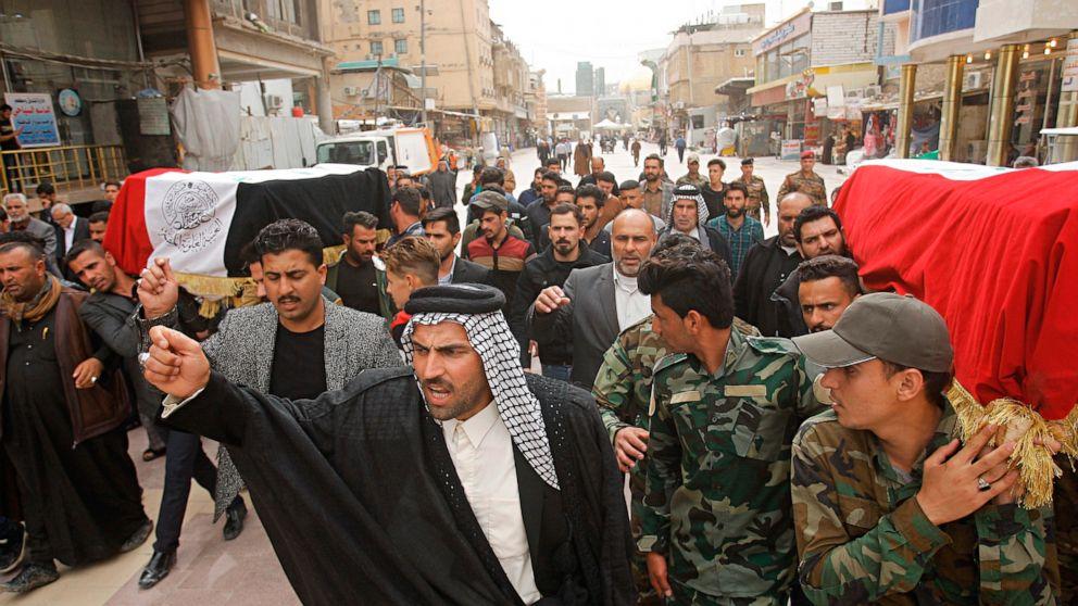Iraqi military: 2 rockets hit training base south of Baghdad thumbnail