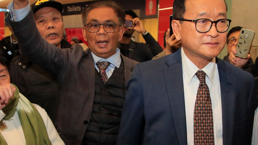 Cambodia opposition leader hustling to fly home thumbnail