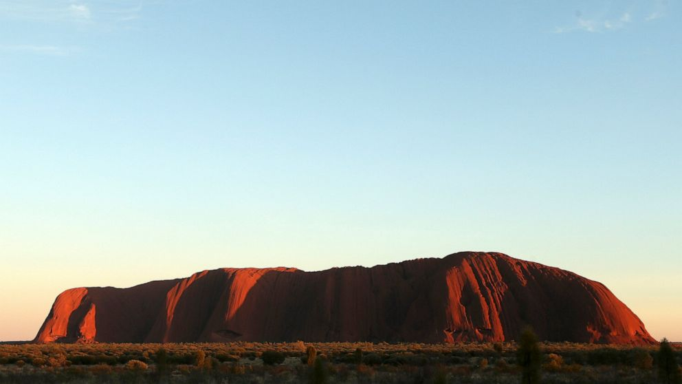 Australia's iconic rock Uluru scaled by final climbers