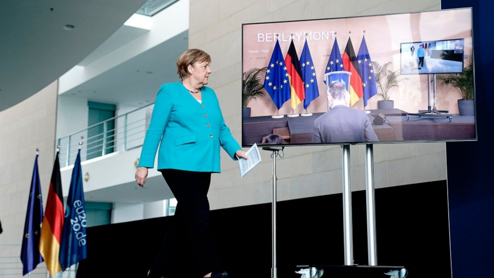 Merkel says 'every single day counts' in passing EU restoration fund thumbnail