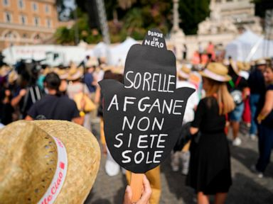 Italians come out to demand support for Afghan women