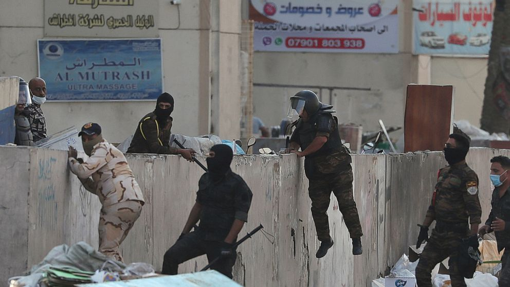 Image result for Security forces kill 7 demonstrators in Iraq