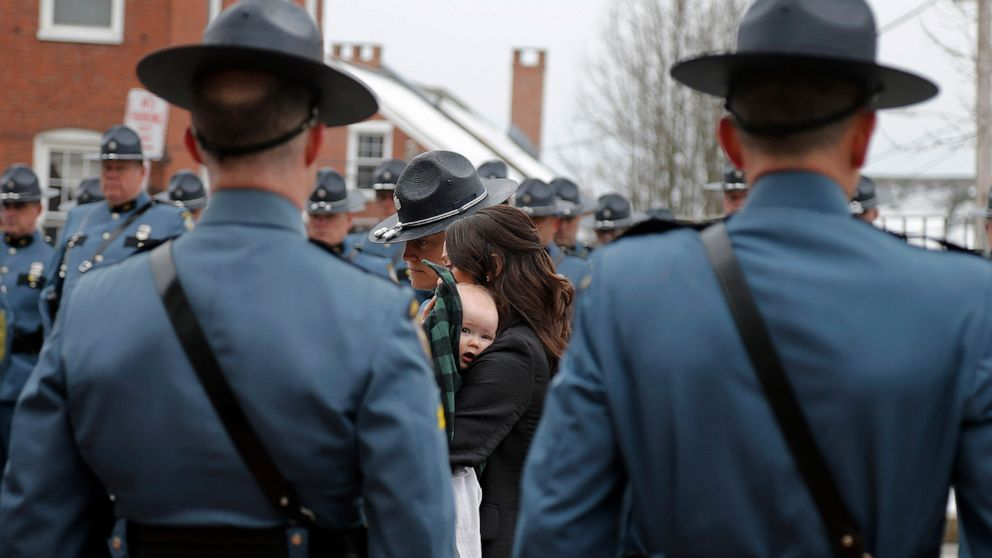 Big turnout at funeral for trooper killed by errant tire