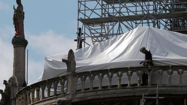 Small donors, not French tycoons, help pay Notre Dame works