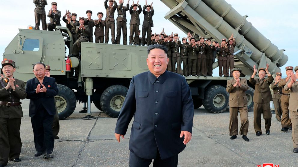 N. Korea tests new 'super-large' multiple rocket launcher thumbnail