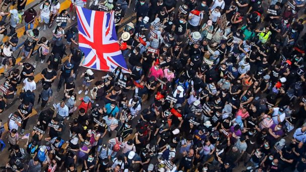 Violence flares after Hong Kong protesters defy police ban