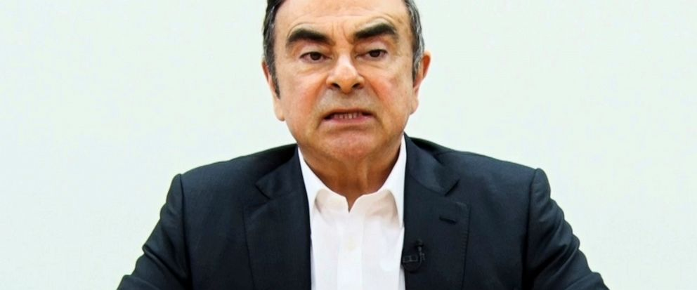 In this image made from video released by Carlos Ghosn via his lawyer on Tuesday, April 9, 2019, former Nissan chairman Ghosn speaks on camera in Tokyo. Japans Supreme Court turned down an appeal by the lawyers for Ghosn to end his detention followi
