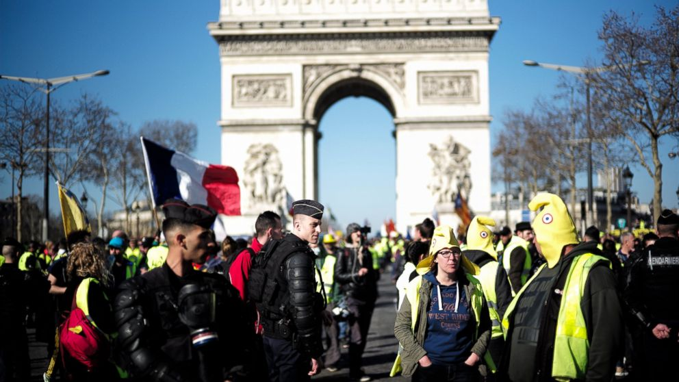 French Yellow Vest Protesters Seek Momentum On 15th Week Abc News