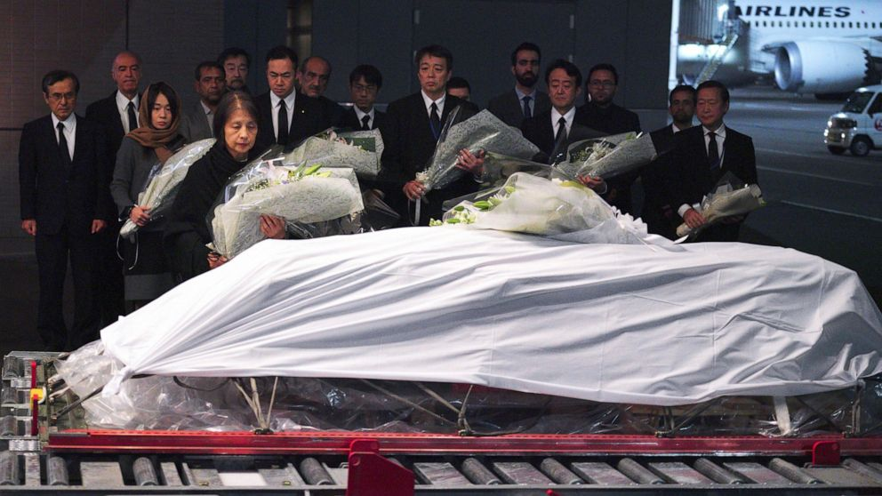 Body of slain doctor returns home to Japan from Afghanistan