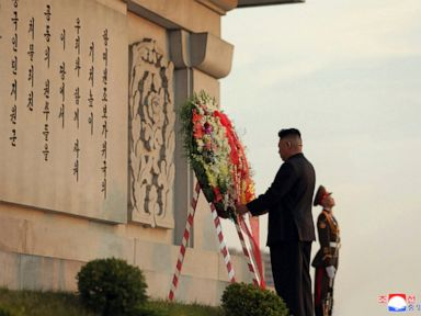 N Korea leader pays respect to Chinese war dead at memorial