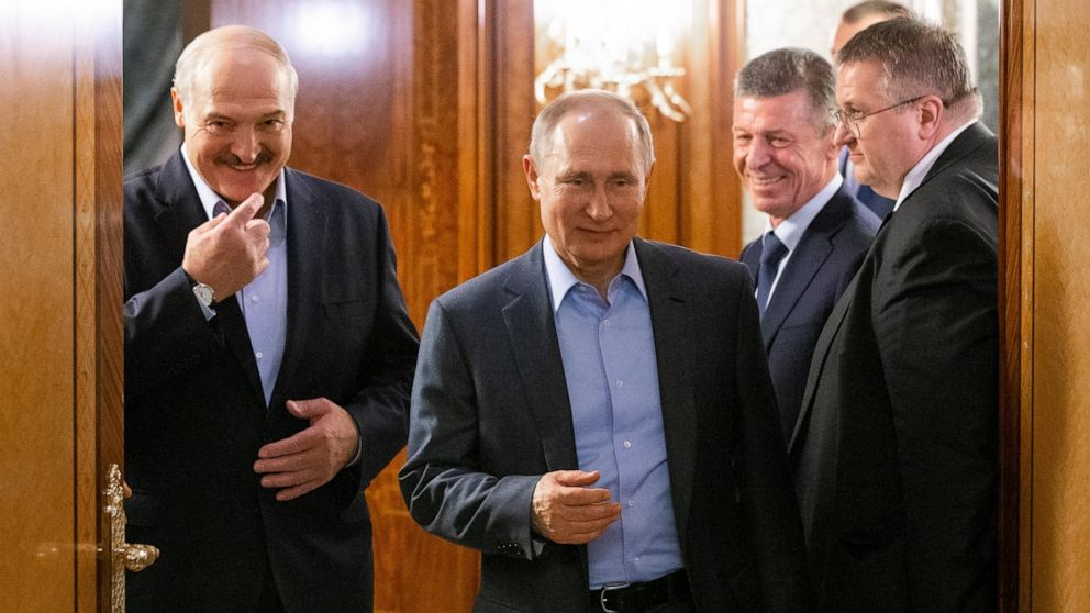 Belarus leader says nation being forced to merge with Russia
