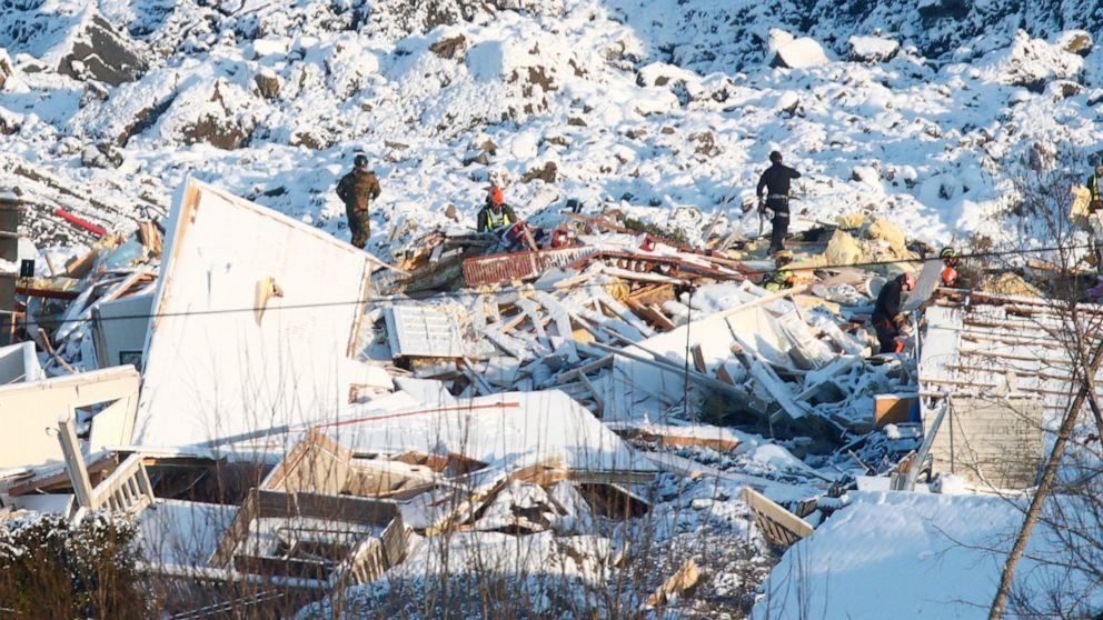 Dog found alive raises hopes in deadly Norway landslide