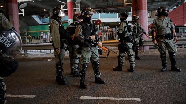 Hong Kong protesters vandalize subway station, storm mall