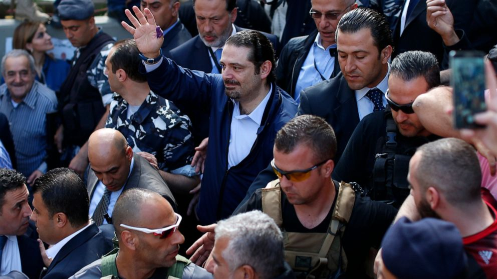 Missile hit close to convoy of ex-Lebanon PM Hariri, report says thumbnail
