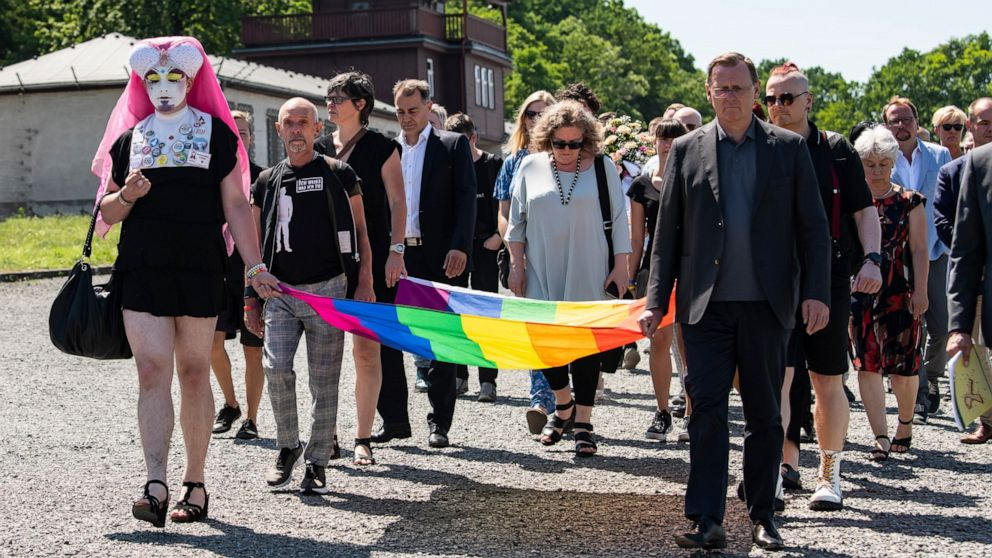 Gay prisoners of Buchenwald remembered at Nazi camp site