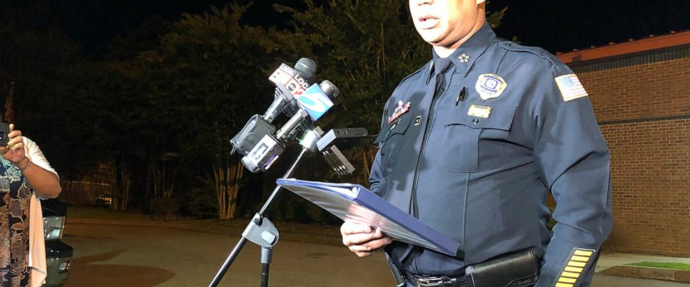 Memphis Police Director Michael Rallings speaks to reporters after a late Wednesday clash with police and an angry crowd early Thursday, June 13, 2019, in Memphis, Tennessee. Armed officers and an angry crowd faced off late Wednesday night after repo
