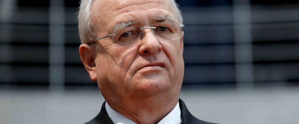 FILE - In this Jan. 19, 2017 file photo Martin Winterkorn, former CEO of the German car manufacturer Volkswagen, arrives for a questioning at an investigation committee of the German federal parliament in Berlin, Germany. (AP Photo/Michael Sohn, file)