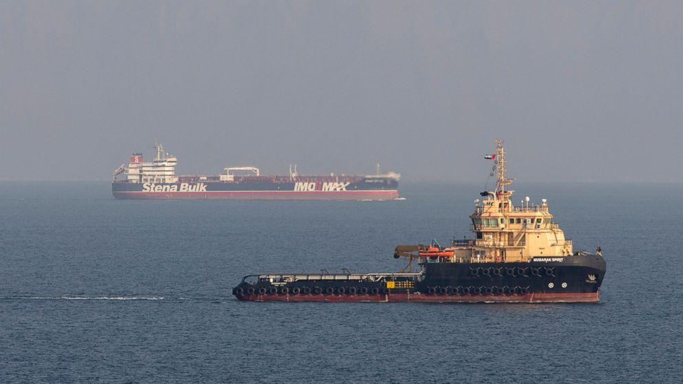 イランと石油タンカーのたロケットオフサウジアラビア