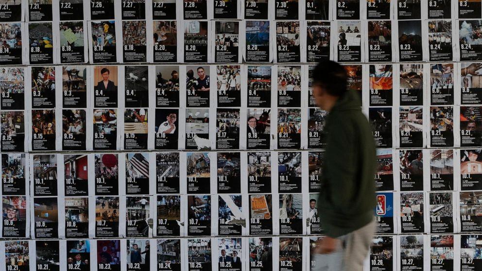 Hong Kong kündigt 336 Verhaftungen während der Proteste Weihnachten