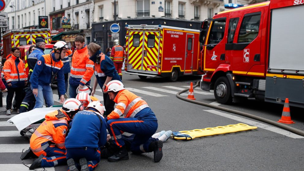 The Latest: 2 firefighters killed in Paris blast