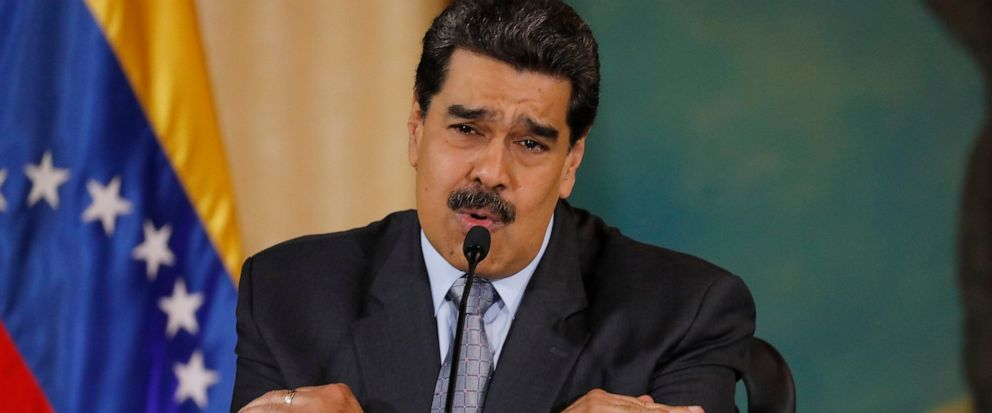 FILE - In this Sept. 30, 2019, file photo, Venezuelas President Nicolas Maduro speaks during a press conference at the Foreign Ministry in Caracas, Venezuela. The Venezuelan ambassador to Japan says his bank account has become inaccessible in Japan