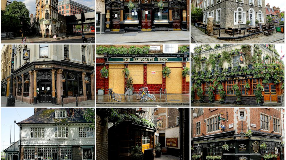 Ap Photos Uk Pubs Await Call To Open Doors Again Abc News