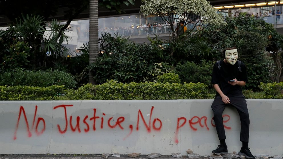Für Hong Kong Demonstranten, Masken, Schutzschild gegen Big Brother
