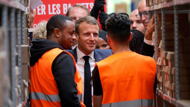 France's Macron tries the common touch to win back support