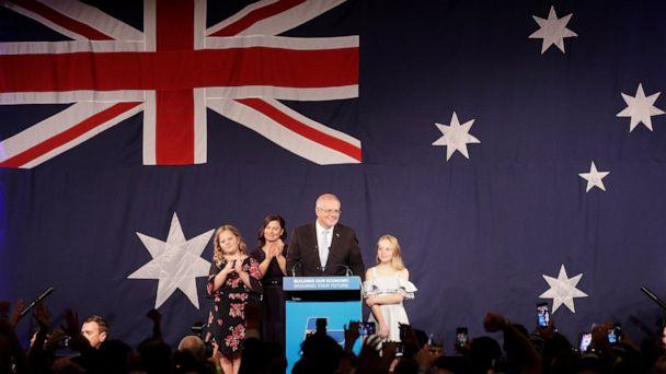 Australia's conservative coalition wins surprise 3rd term