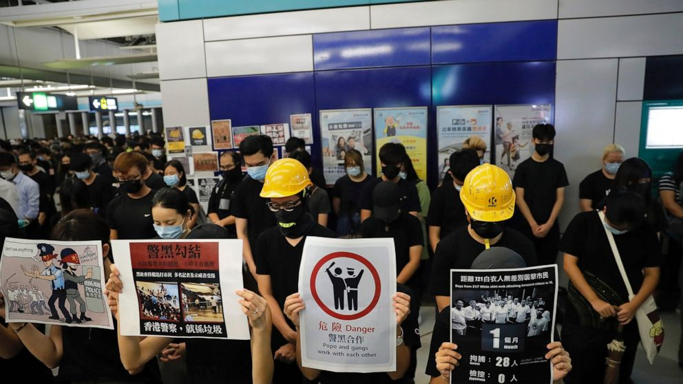 Hong Kong protesters mark brutal mob attack with sit-in thumbnail