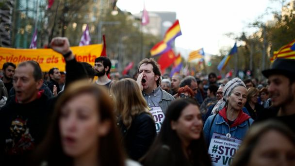 Rally in Barcelona against new Spanish far-right party