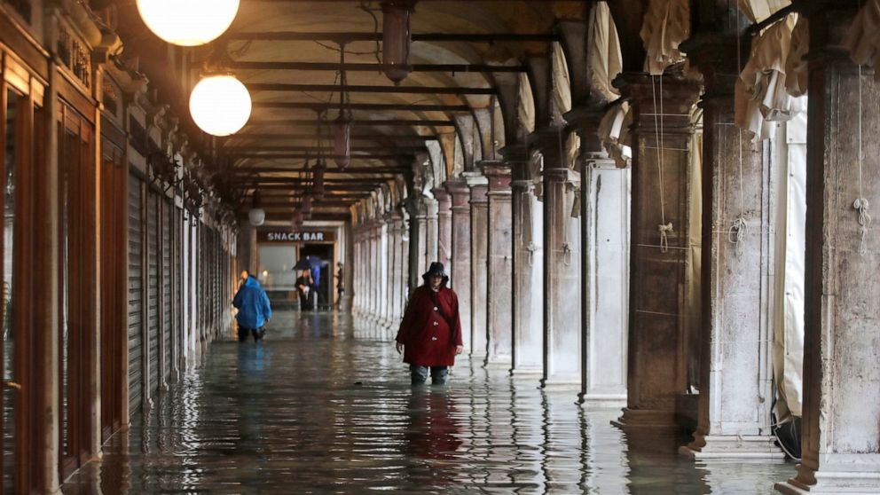 St. Mark's Square reopens in Venice, but water remains high