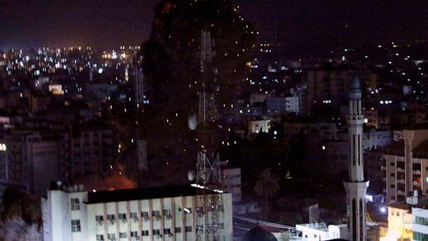 Israel hits targets across Gaza after rocket attack