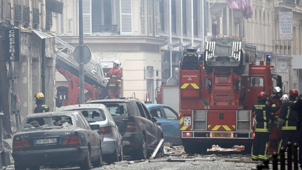 2 firefighters killed in Paris bakery blast; dozens injured thumbnail