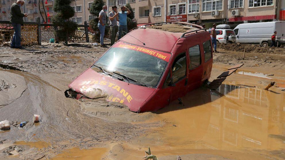 6 dead, 10 missing as flooding hits Turkey's Black Sea coast - ABC News