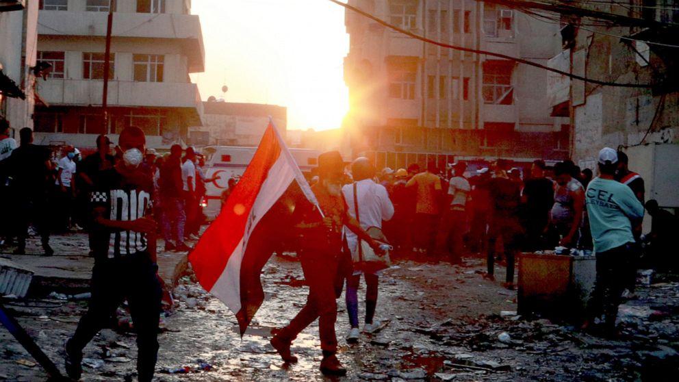Frische Unruhen im Irak tötet 4 Demonstranten, Dutzende Wunden mehr