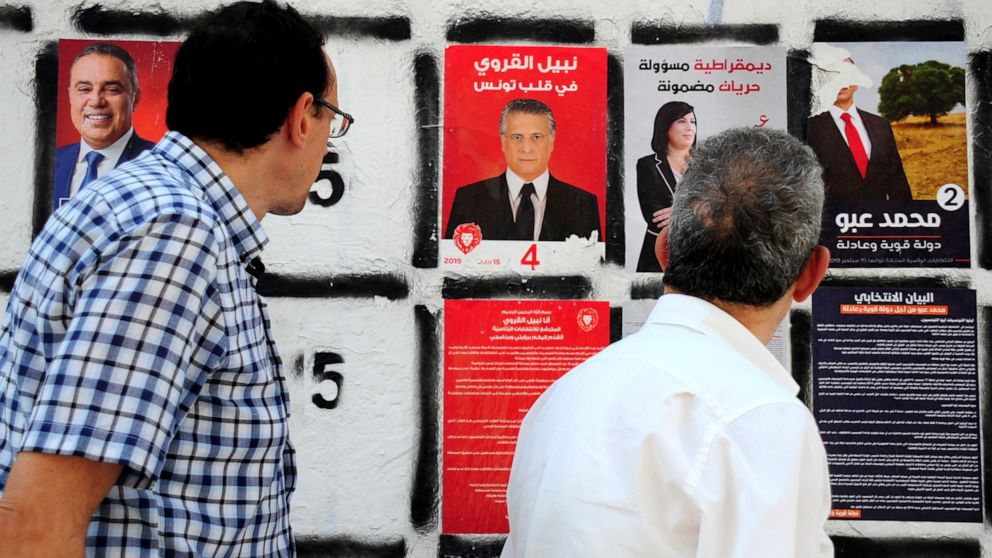 Jailed Tunisia presidential candidate's backers campaign