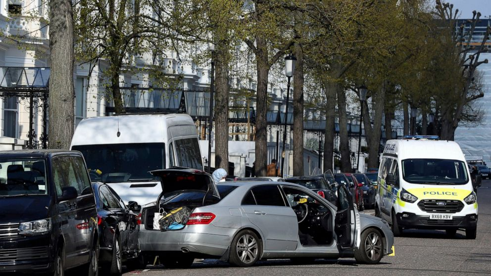 UK police say man held in hospital after embassy car-ramming