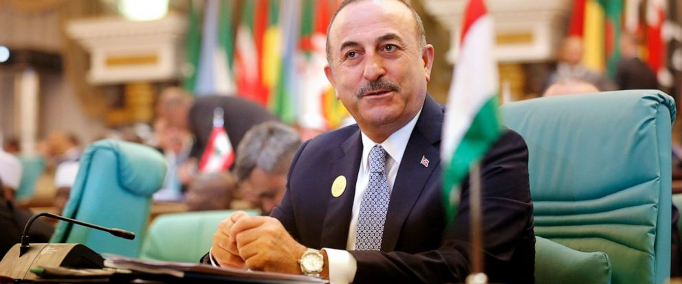 Turkeys Foreign Minister Mevlut Cavusoglu attends Islamic Summit of the Organization of Islamic Cooperation (OIC) in Mecca, Saudi Arabia, early Saturday, June 1, 2019. Muslim leaders from some 57 nations gathered in Islams holiest city of Mecca lat