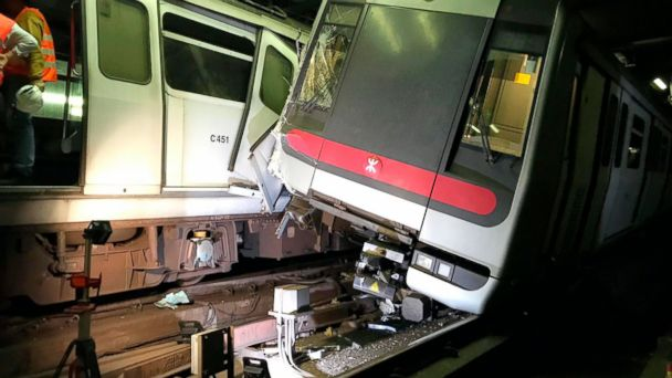 Hong Kong subway partly suspended after overnight crash