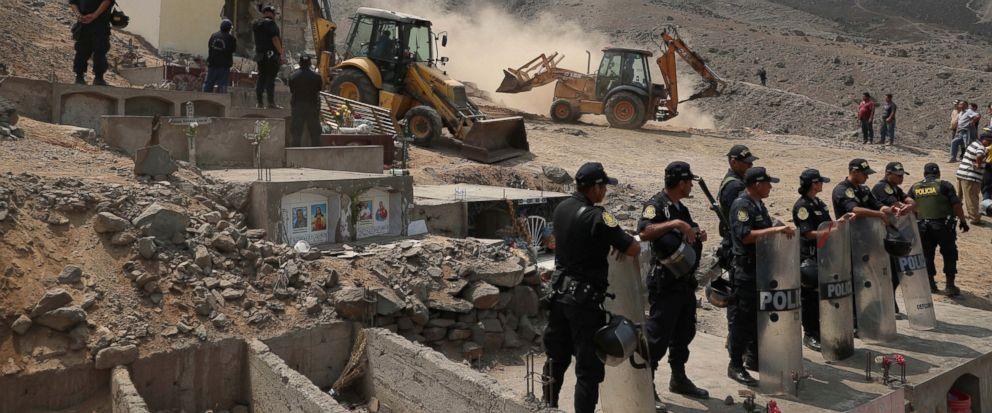 peru demolishes mausoleum holding dead shining path rebels abc news