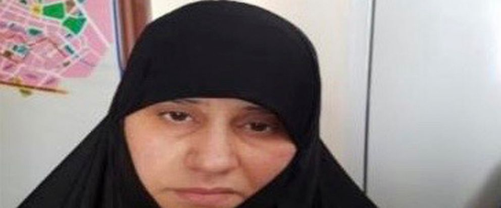 Undated handout photo made available by unnamed government sources showing a woman identified as Asma Fawzi Muhammad al-Qubaysi, a wife of the slain leader of the Islamic State group Abu Bakr al-Baghdadi. Turkey has captured a wife of the slain leade