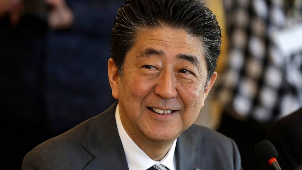 Japan's Abe talks trade with EU chiefs ahead of US visit